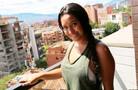 Студентка колумбийка любит  трахаться