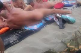 Публичный секас на нудистском пляже