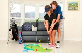 Немного  домашнего гольфа и много жаркого  секса