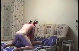 Русский домашний секс с женой в чулках