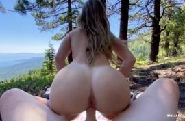 Эпическое порно-приключение от первого лица на склоне горы