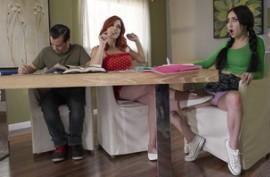 Рыжая преподавательница на дому соблазнителя свою учительницу