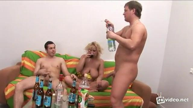 Русская пьяная шалава