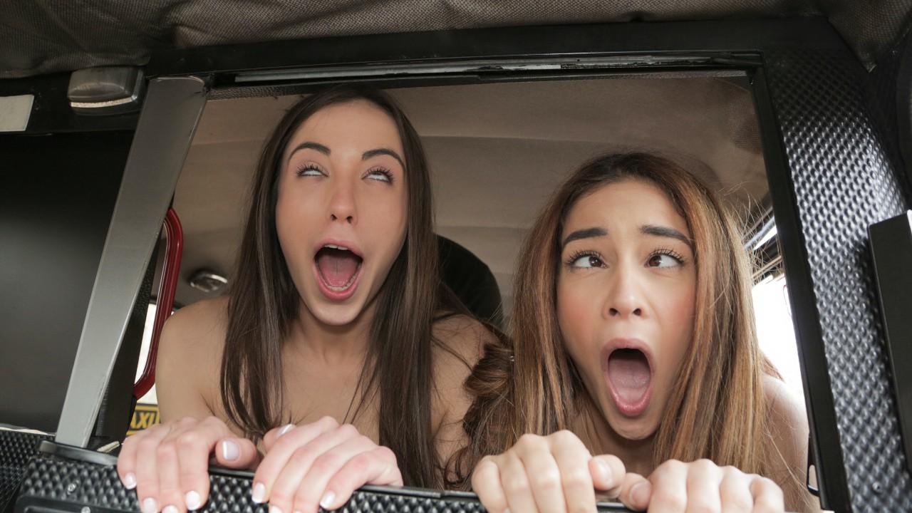 Джинебра Белуччи и Анастасия Брокелин трахаются с похотливым таксистом